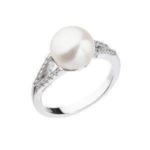 Pavona Stříbrný prsten s bílou říční perlou 25003.1 Velikost: 58