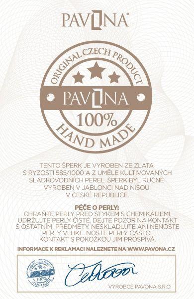 Pavona Zlaté náušnice 81009.1 bílé zlato s briliantem
