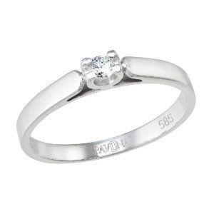 Pavona Zlatý prsten 85002.1 bílé zlato