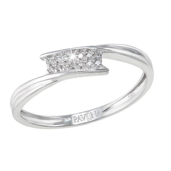 Pavona Zlatý prsten 85005.1 bílé zlato