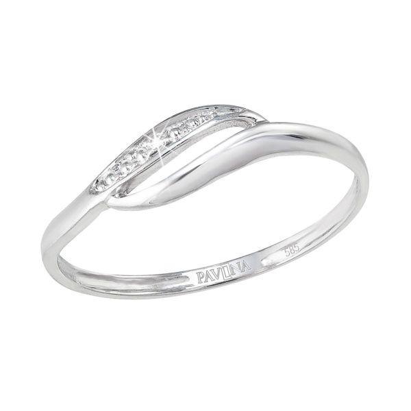 Pavona Zlatý prsten 85006.1 bílé zlato