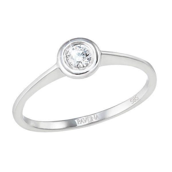 Pavona Zlatý prsten 85007.1 bílé zlato