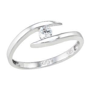 Pavona Zlatý prsten 85010.1 bílé zlato