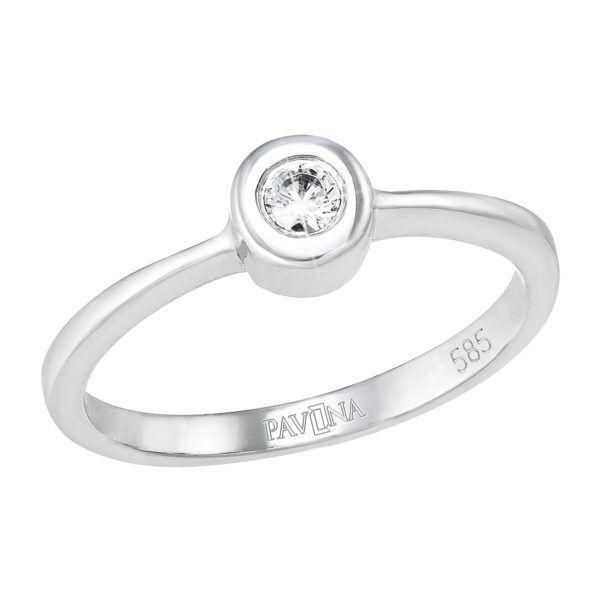Pavona Zlatý prsten 85011.1 bílé zlato