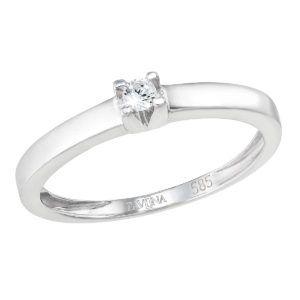 Pavona Zlatý prsten 85012.1 bílé zlato