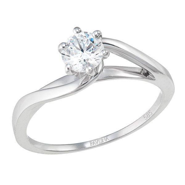 Pavona Zlatý prsten 85015.1 bílé zlato