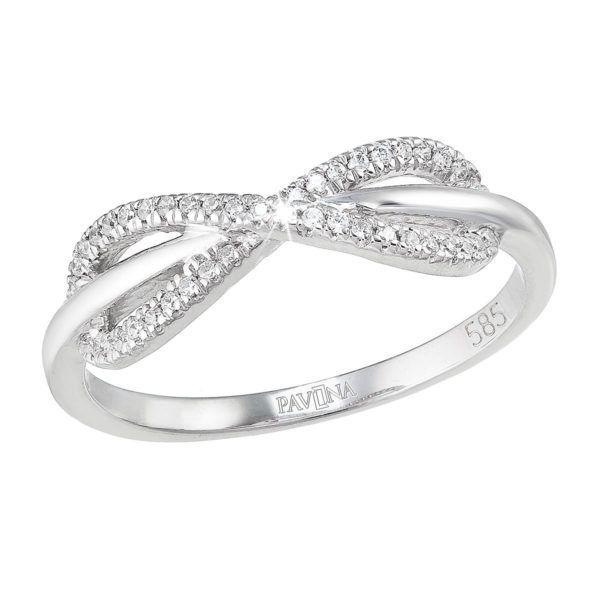 Pavona Zlatý prsten 85021.1 bílé zlato