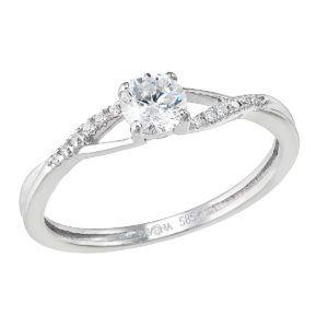 Pavona Zlatý prsten 85023.1 bílé zlato