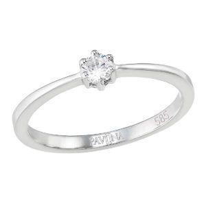 Pavona Zlatý prsten 85033.1 bílé zlato