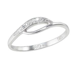 Pavona Zlatý prsten 85003.1 bílé zlato