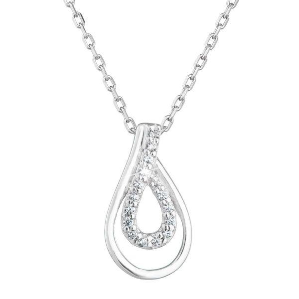Pavona Zlatý náhrdelník 82002.1 bílé zlato s briliantem