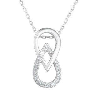 Pavona Zlatý náhrdelník 82006.1 bílé zlato s briliantem