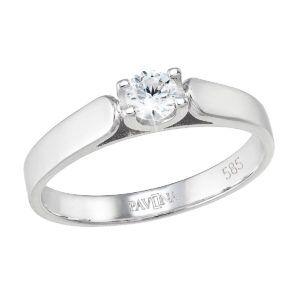 Pavona Zlatý prsten 85027.1 bílé zlato