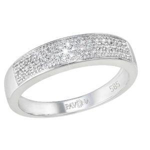 Pavona Zlatý prsten 85028.1 bílé zlato