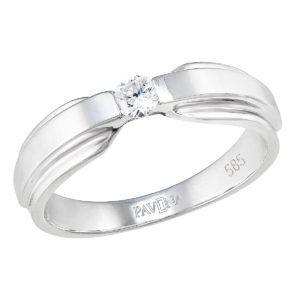 Pavona Zlatý prsten 85029.1 bílé zlato
